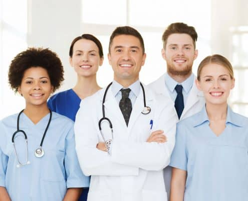 group-of-happy-doctors-at-hospital